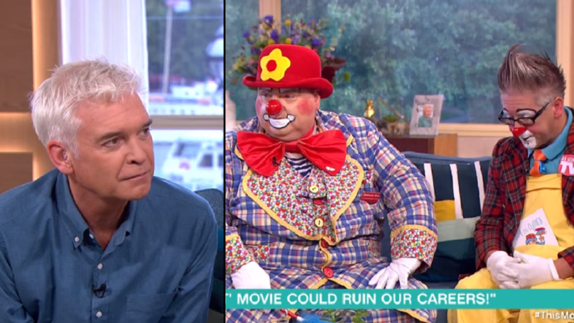 Clowns Go On 'This Morning' To Slate 'It' And Phil's Reaction Is Priceless