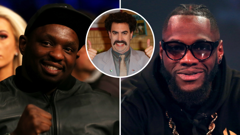Dillian Whyte Calls Deontay Wilder An 'Absolute Weapon' After His 'Borat' English Accent