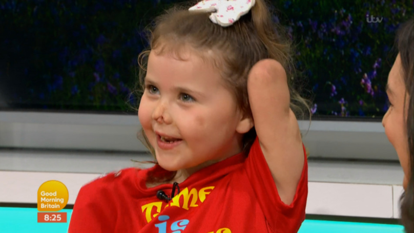 A Little Girl Who Lost Her Limbs Presents The Weather On 'GMB'