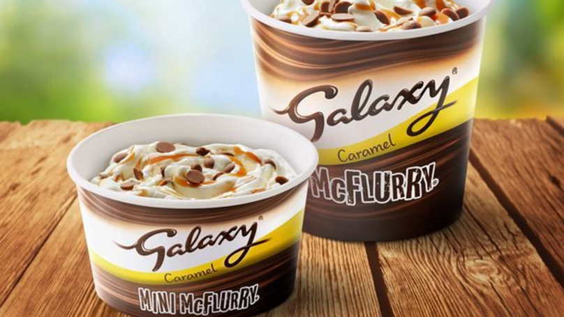 ​McDonald's Brings Back Galaxy Caramel McFlurry