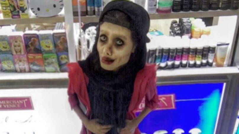 Zombie 'Angelina Jolie Lookalike' Posts Her Most Unsettling Instagram Shot Yet