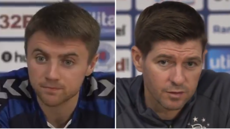The Incredible Moment Steven Gerrard Brutally Shut Down Journalist in Rangers Press Conference
