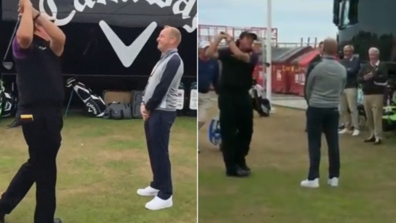 Phil Mickelson Somehow Hits 'Impossible' Flop-Shot Over Man's Head