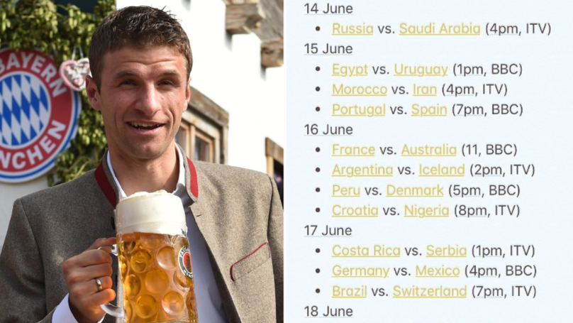 Here Is A Full Schedule Of When Every World Cup Game Is Happening