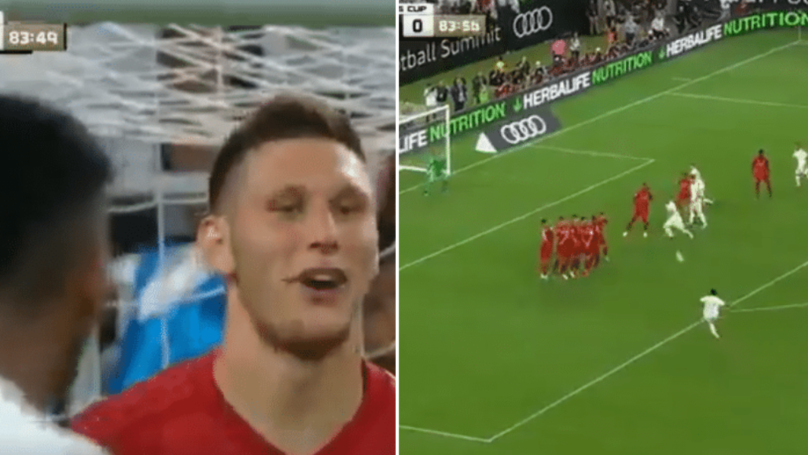 "Niklas Sule Shouts ""Try!"" Literally Moments Before Rodrygo Goes Scores Stunning Free-Kick"