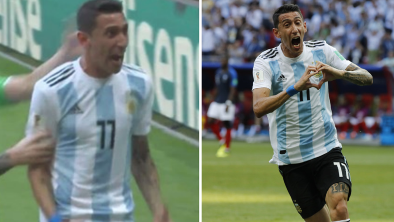 Angel Di Maria's Goal Celebration Against France Was Very Bizarre