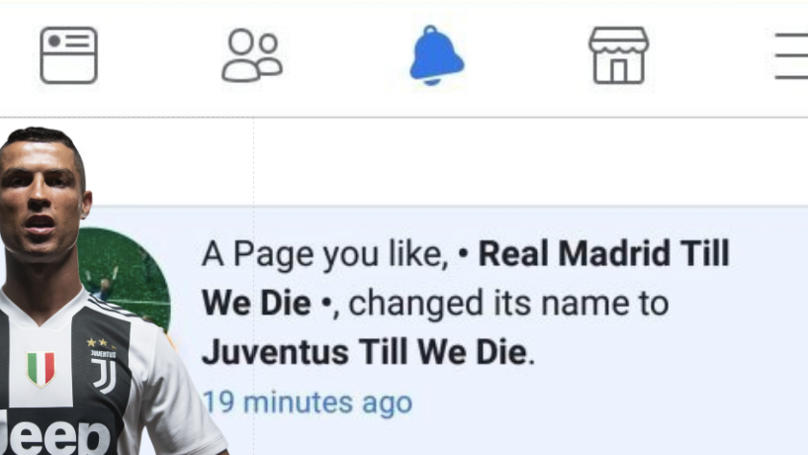 Real Madrid Fan Pages On Facebook Are Changing Their Name To Support Juventus