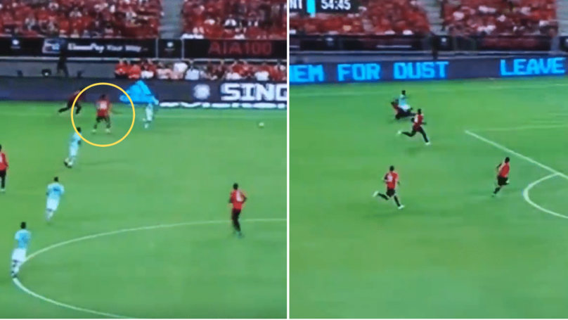 Aaron Wan-Bissaka Produces Incredible Recovery Tackle During Manchester United Vs. Inter Milan