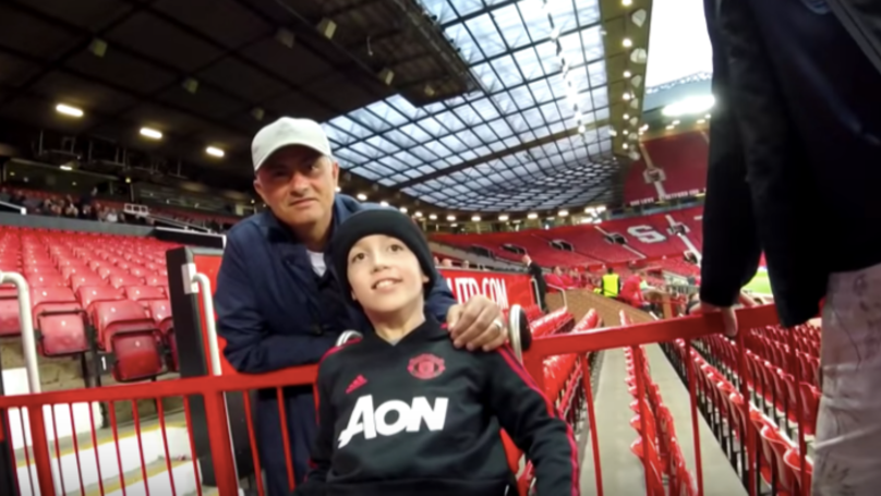 Jose Mourinho Spent 10 Minutes With Disabled Fans After U23 Game Last Night