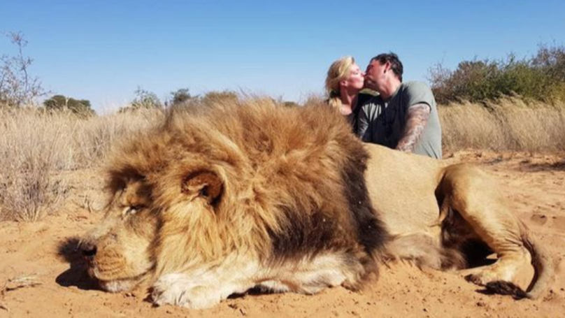 Daughter Disowns Father After Seeing Photo Of Him Posing With Dead Lion