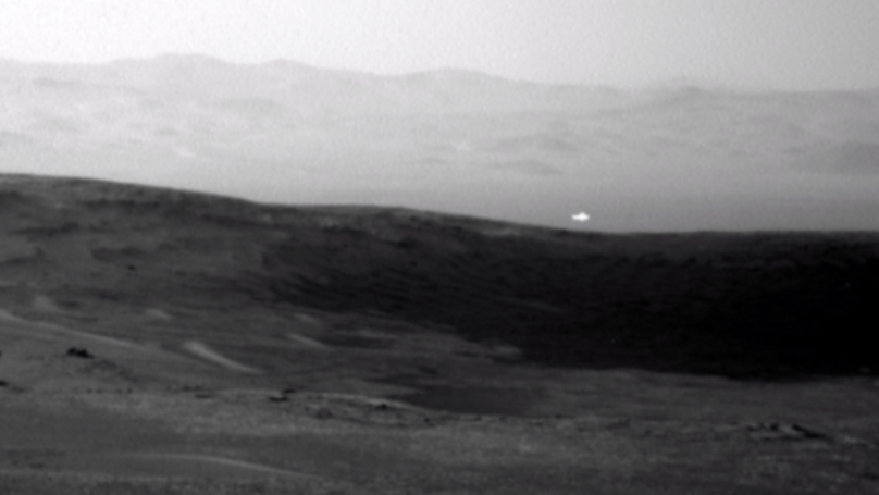 NASA's Curiosity Rover Captures Image Of Strange White Light On Mars