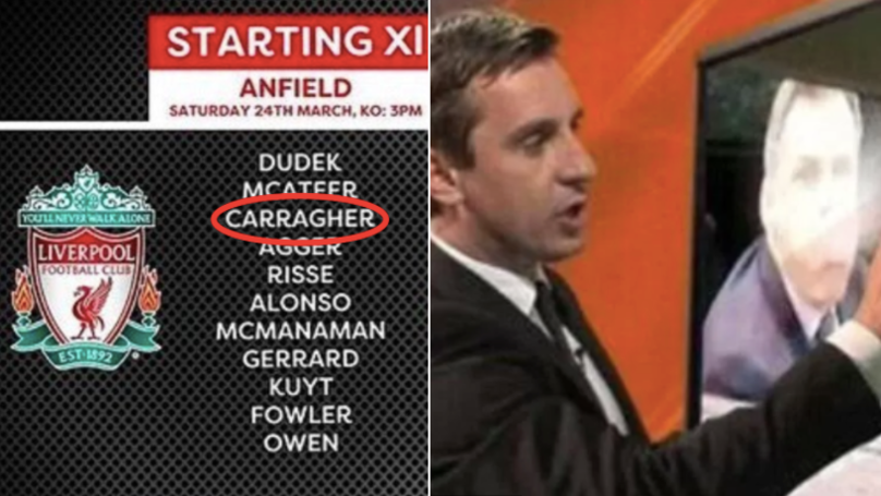 Gary Neville Couldn't Resist Trolling Jamie Carragher Ahead Of First Public Appearance