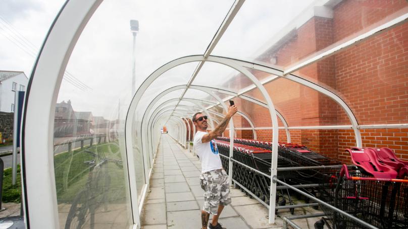 Plastic Sainsbury's Tunnel Voted Cornish Town's Best Tourist Attraction
