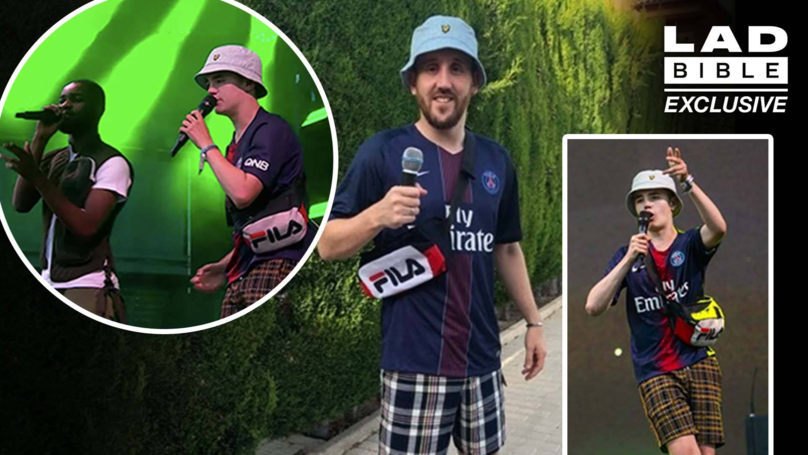 LAD Dresses As 'Alex From Glasto' For Benidorm Stag Do