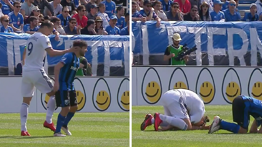 Zlatan Ibrahimovic Has Just Been Sent Off For Slapping Opponent Round The Head