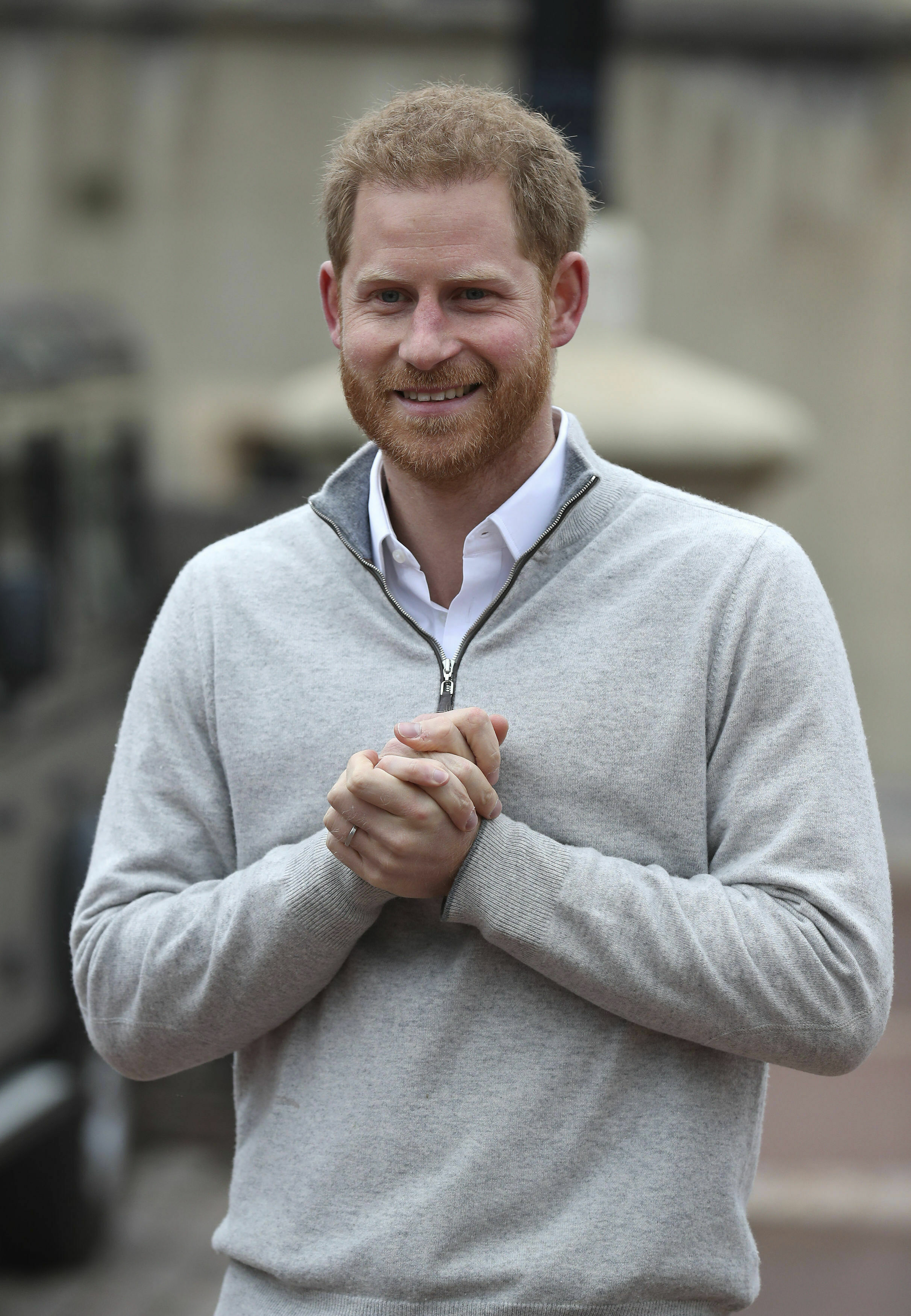 Prince Harry was almost in tears as he spoke to press about the birth of his first child. Credit: PA