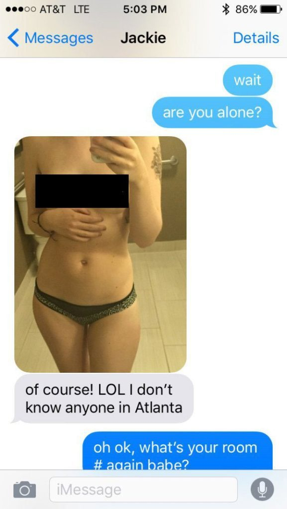 Wife caught sexting