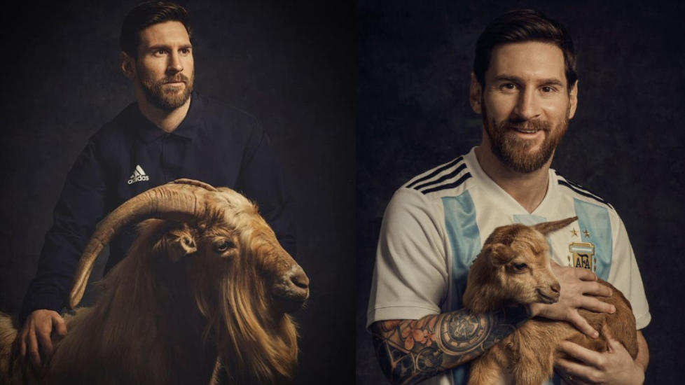 d5a23264f01b Lionel Messi Posing With Another GOAT Is The Greatest Photoshoot We ve Ever  Seen
