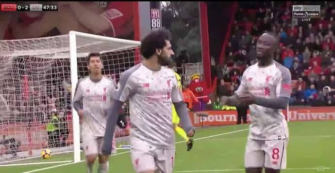 Salah hits hat-trick as Reds beat Bournemouth to go top