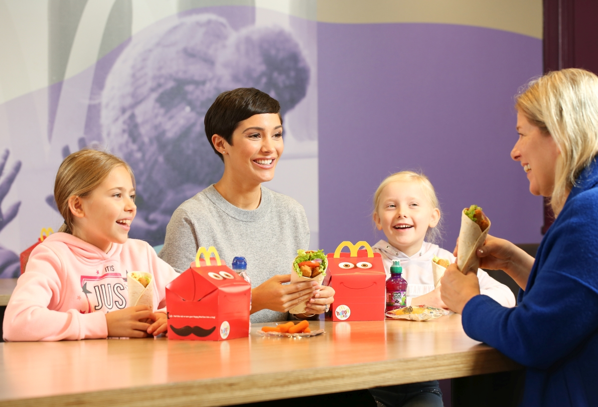 One third of McDonald's customers felt it's important to include more meat-free meals into their families' diets. Credit: McDonald's