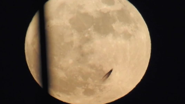 UFO Researcher Claims Strange Object 'Passing The Moon' Is Proof Of Alien Life