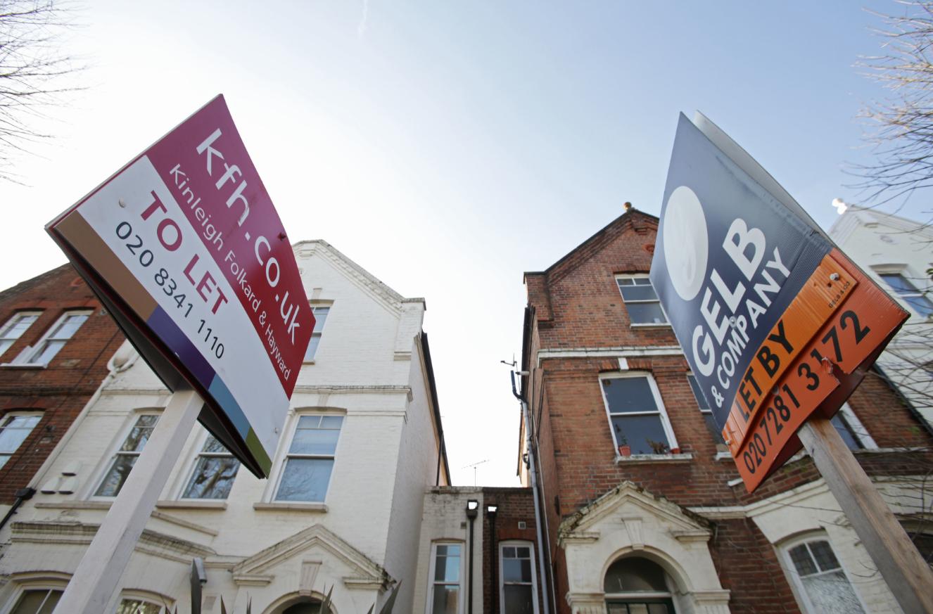 Rental properties in north London. Credit: PA