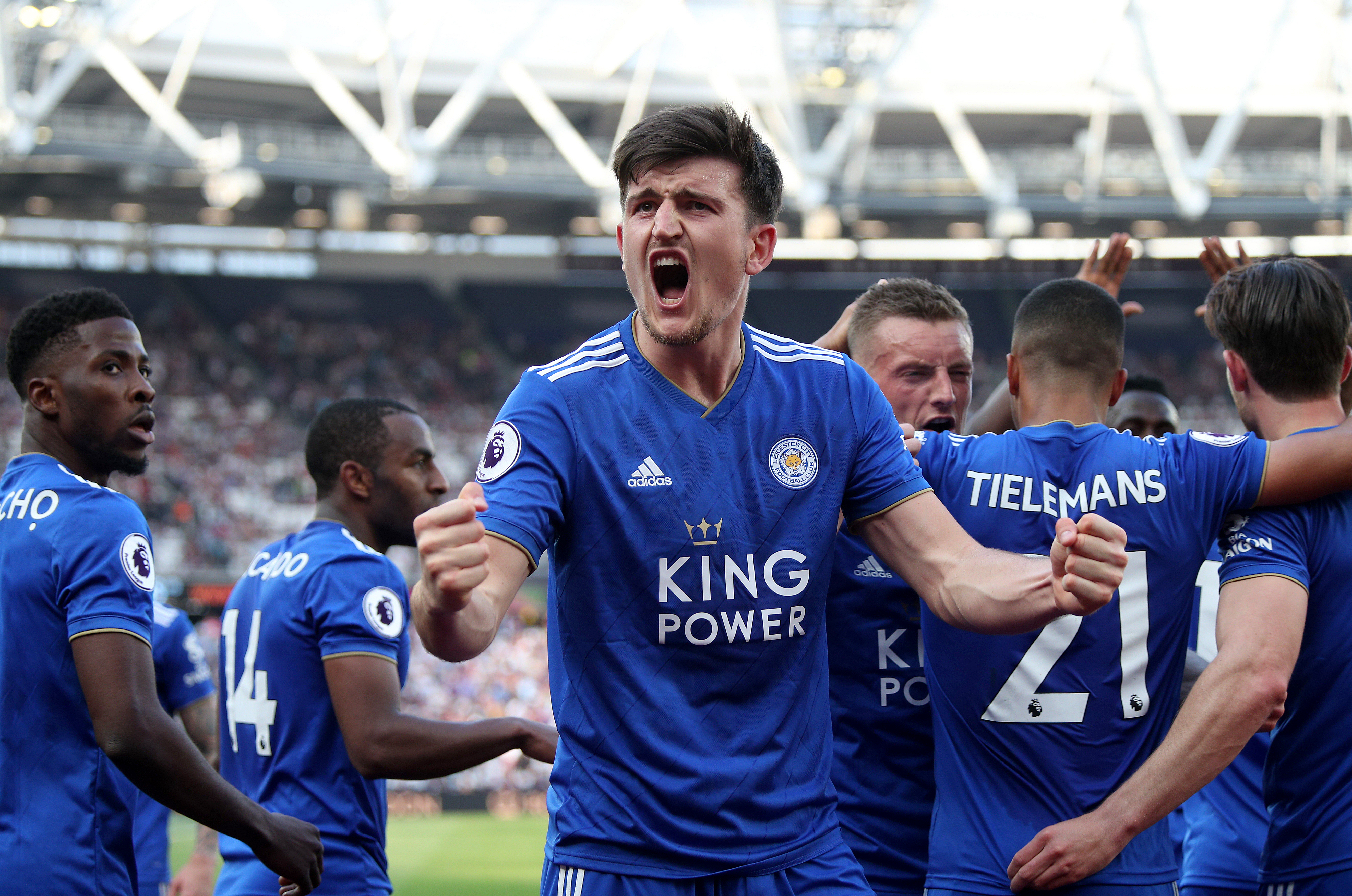 Maguire would cost City big money. Image: PA Images