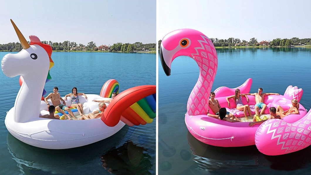 These Giant Unicorn And Flamingo Floats From Sam's Club Can Fit Six People