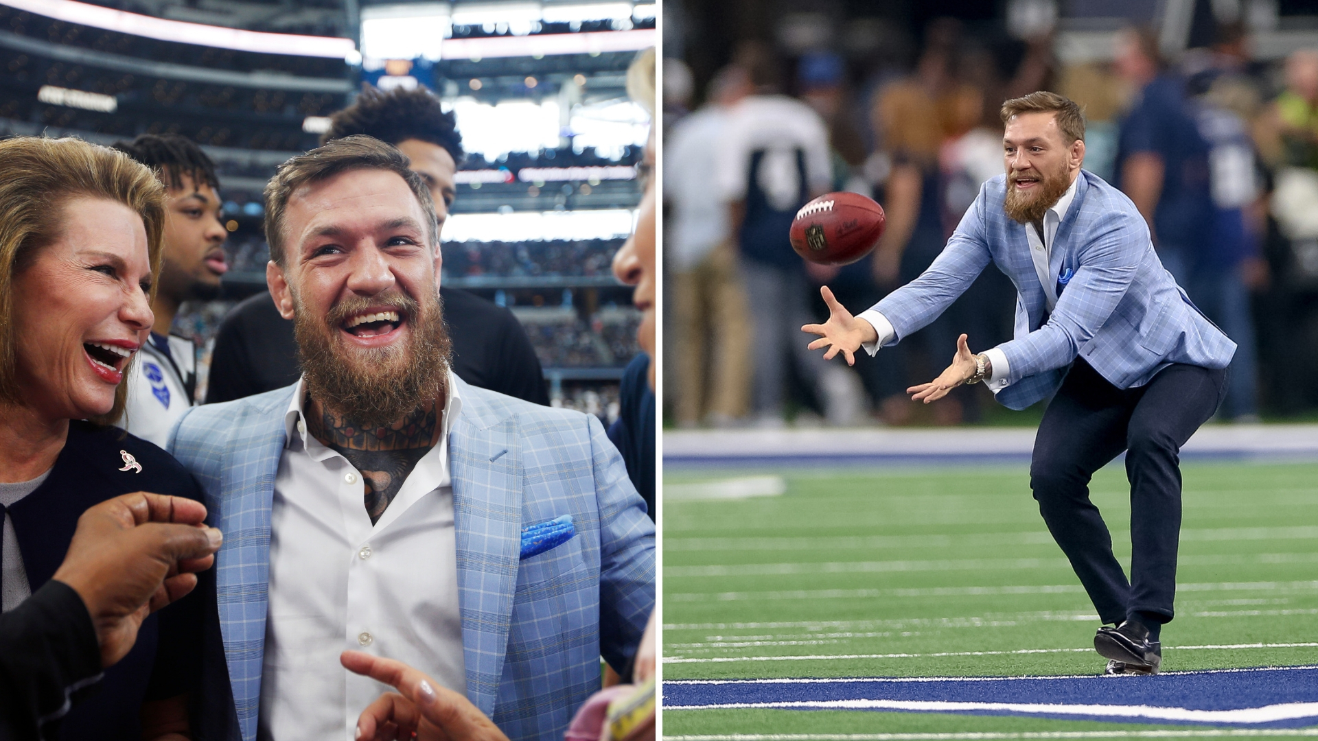 Conor McGregor Lights Up Dallas Cowboys' Match And Players Celebrate With The 'Billi Strut'