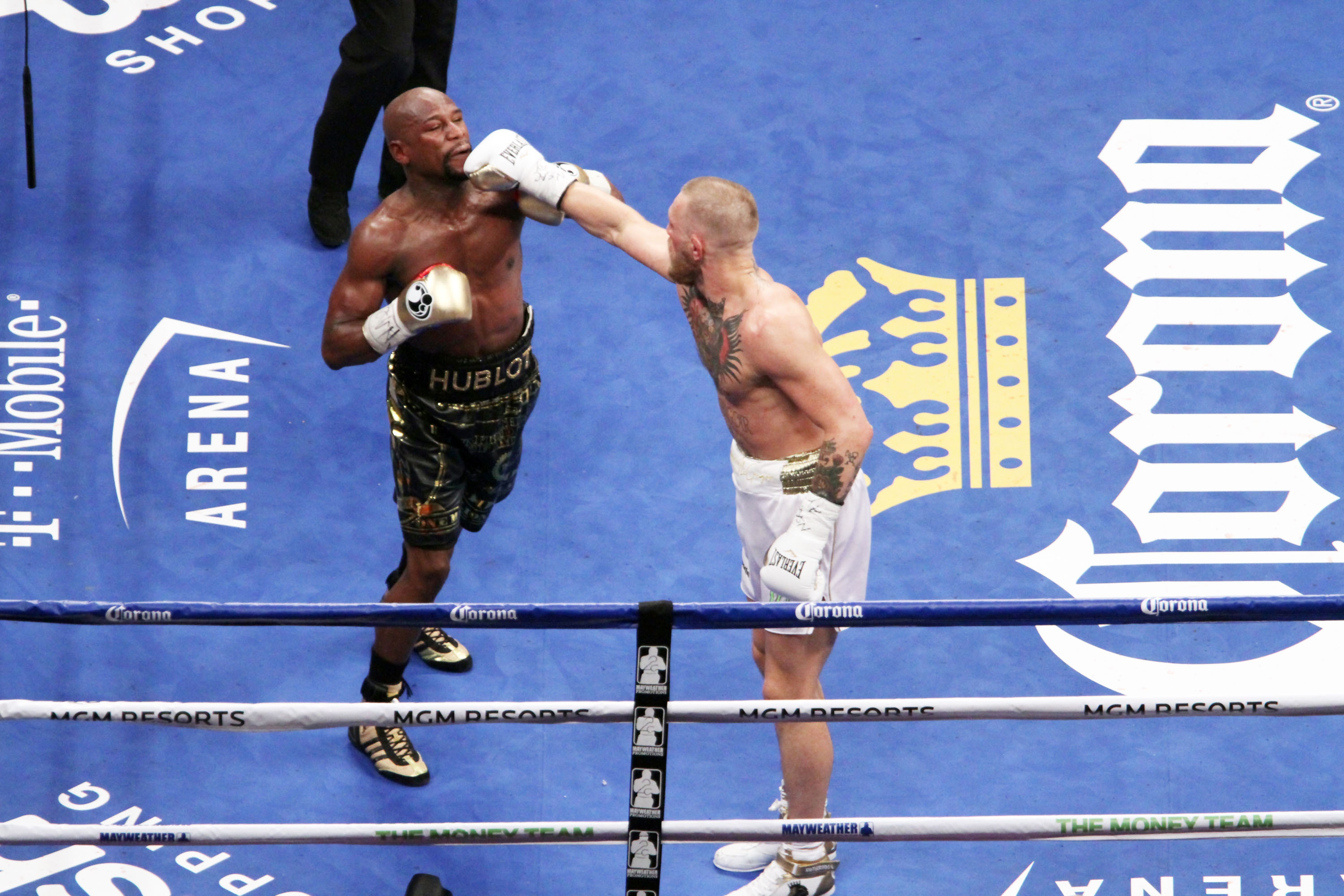 Conor and Floyd in the ring