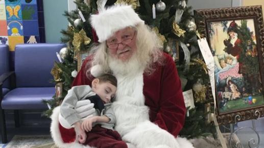 'Santa' Makes Visit To Hospice To See Terminally Ill Toddler