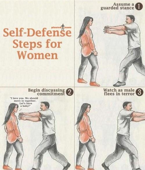 Self-defence steps for women...