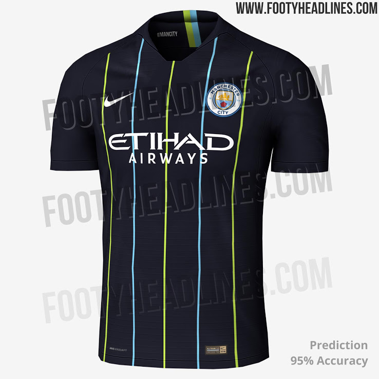 Footyheadlines Manchester United 2018 19 Season Home Kit: Manchester City's Reported Away Kit For Next Season Has
