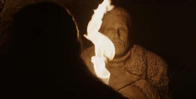 Jon's Statue. Credit: HBO