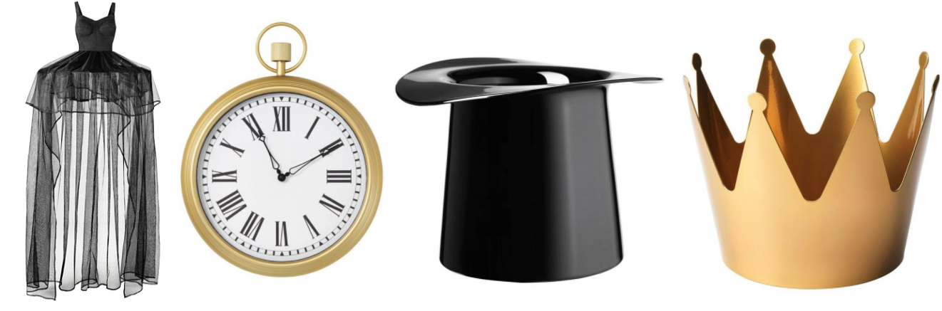 Omedelbar canopy, clock, vase and bowl. Credit: IKEA