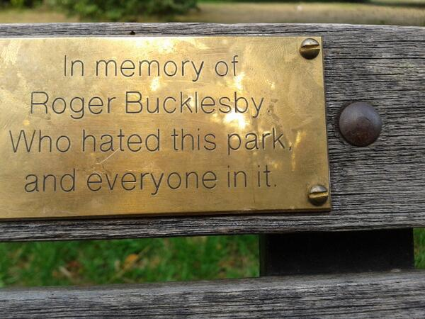 This bench in London>