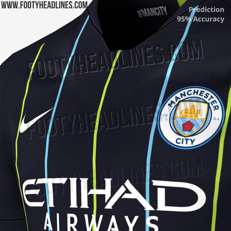 Footy Headlines revealed what they believe to be City s kit for next  season 9868fe381