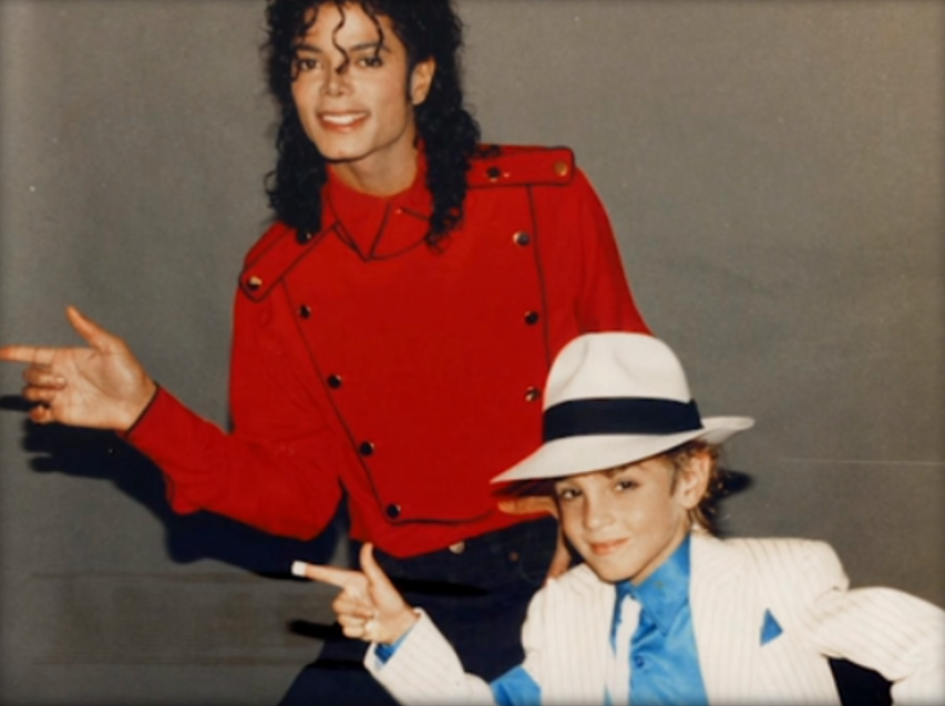 Michael Jackson with Wade Robson. Credit: HBO