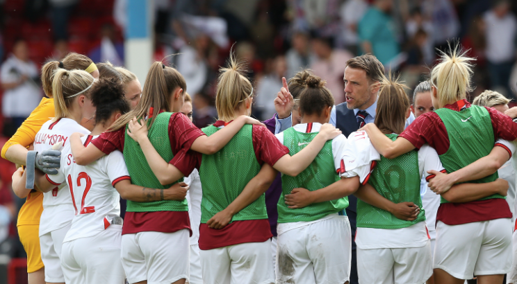 Phil Neville's England Lionesses team