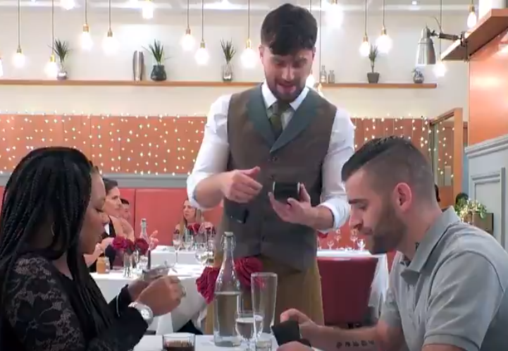 Things got very awkward when he asked his date to split the bill. Credit: Channel 4