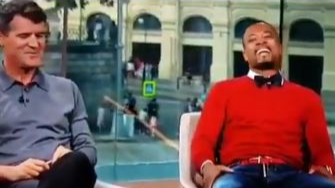 Roy Keane Cracks Rare Smile After Patrice Evra Jibe From Ryan Giggs