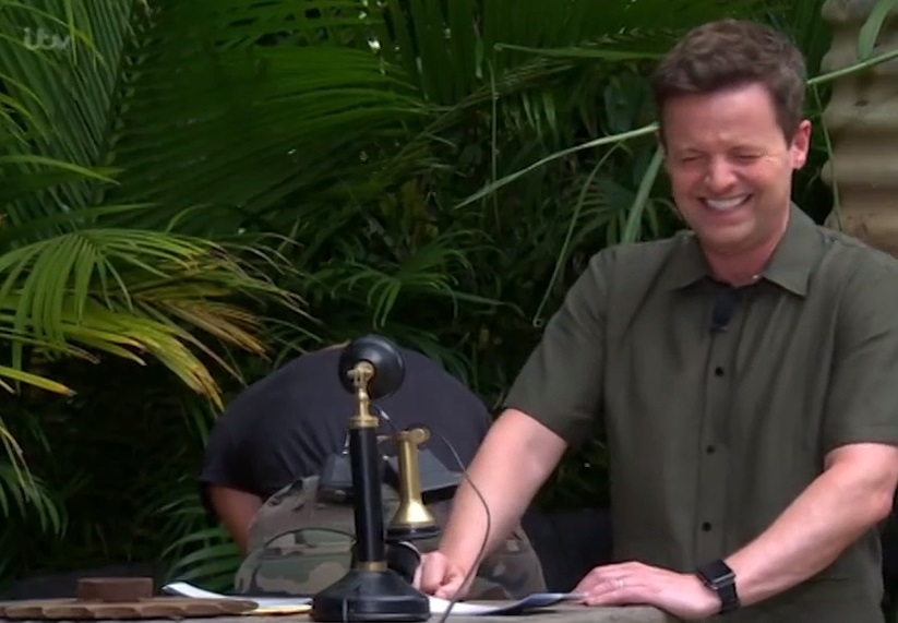 Holly struggled to watch the Dreaded Deliveries trial. (Credit: ITV/I'm A Celebrity)