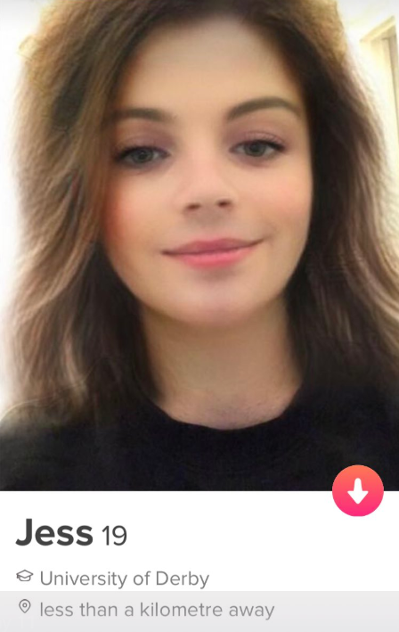 Jess proved very popular with the fellas on Tinder. Credit: Twitter/Jake Askew