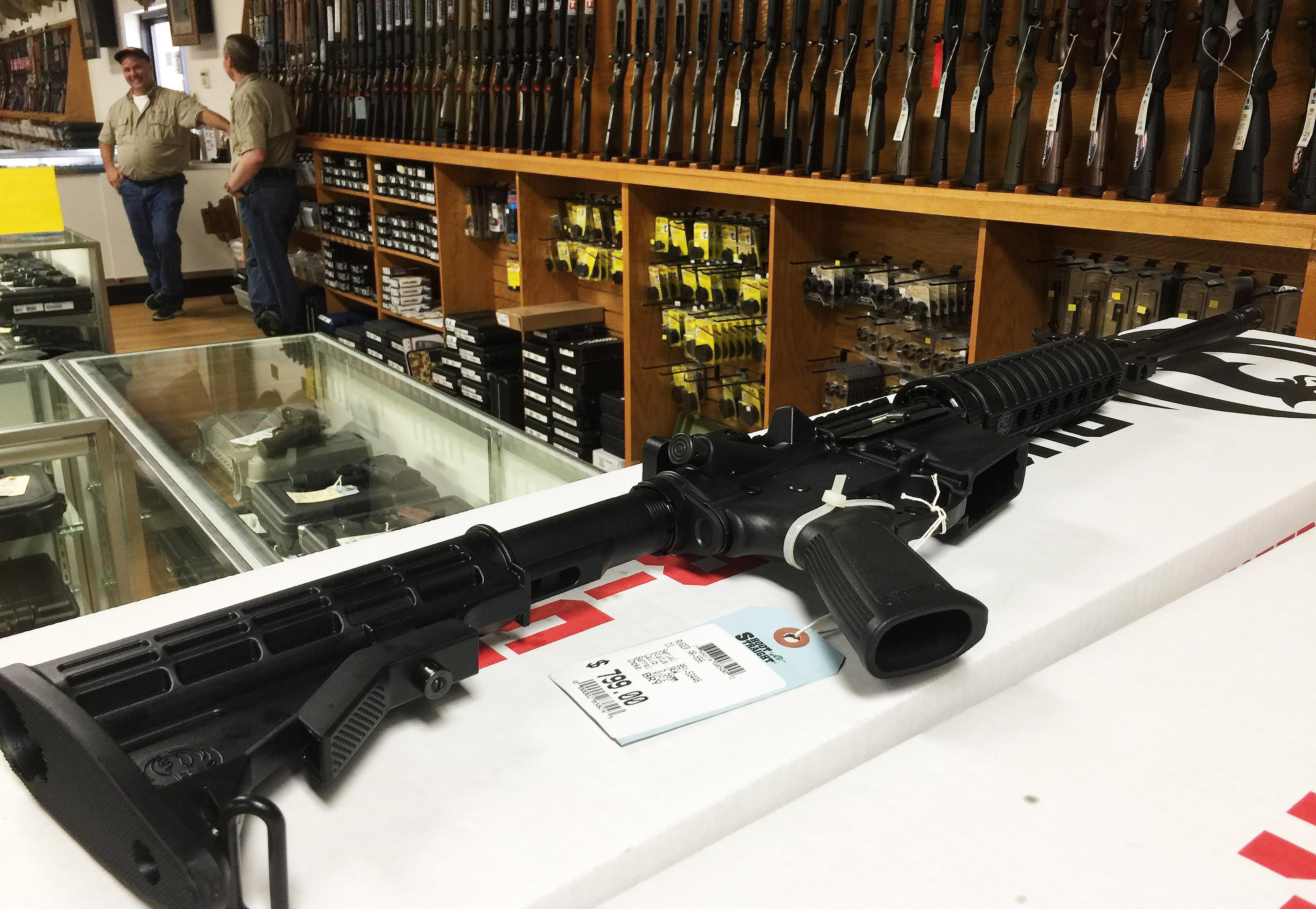 An AR-15 semi-automatic weapon. Credit: PA