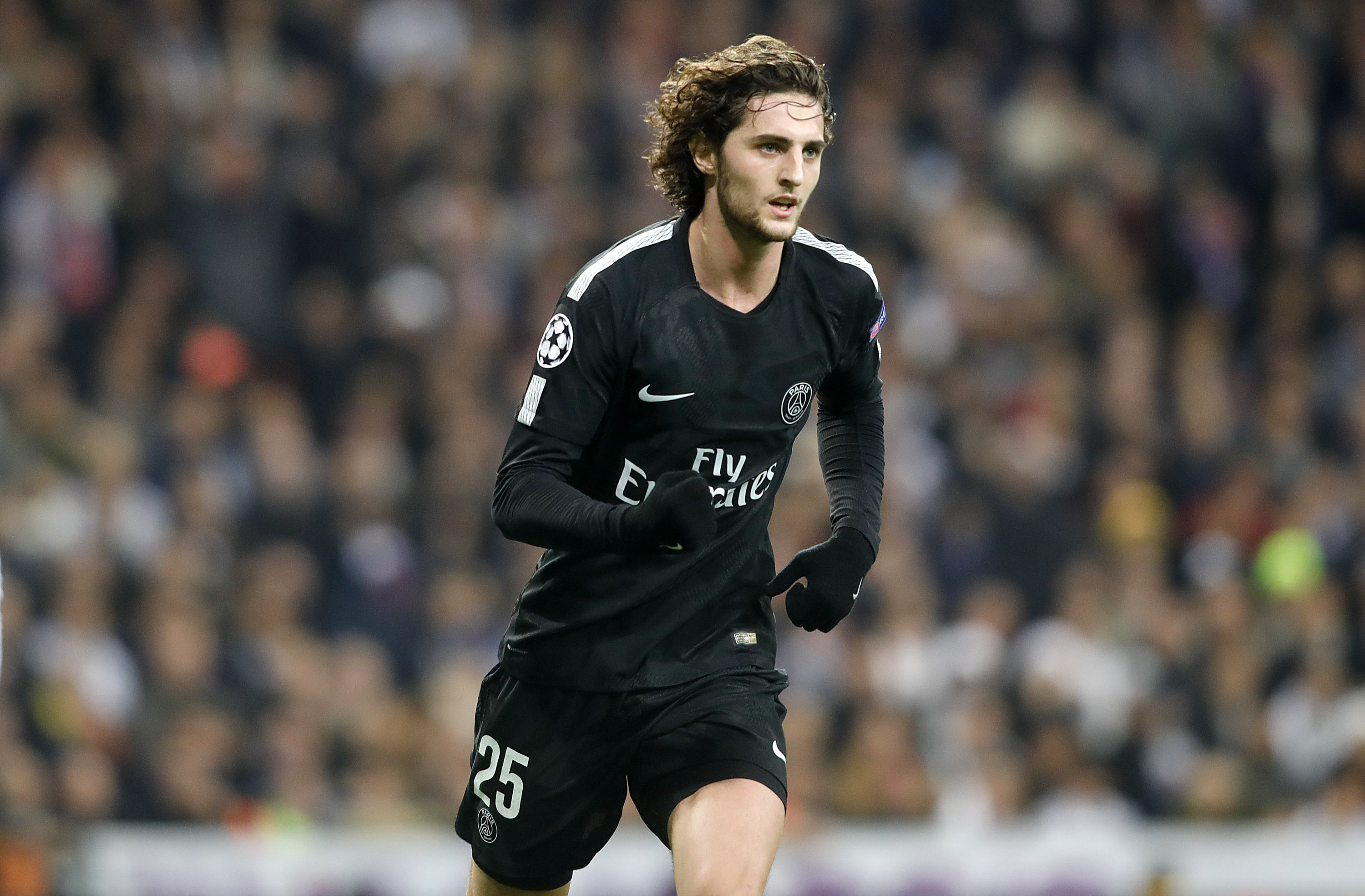 Rabiot playing for PSG. Image: PA Images