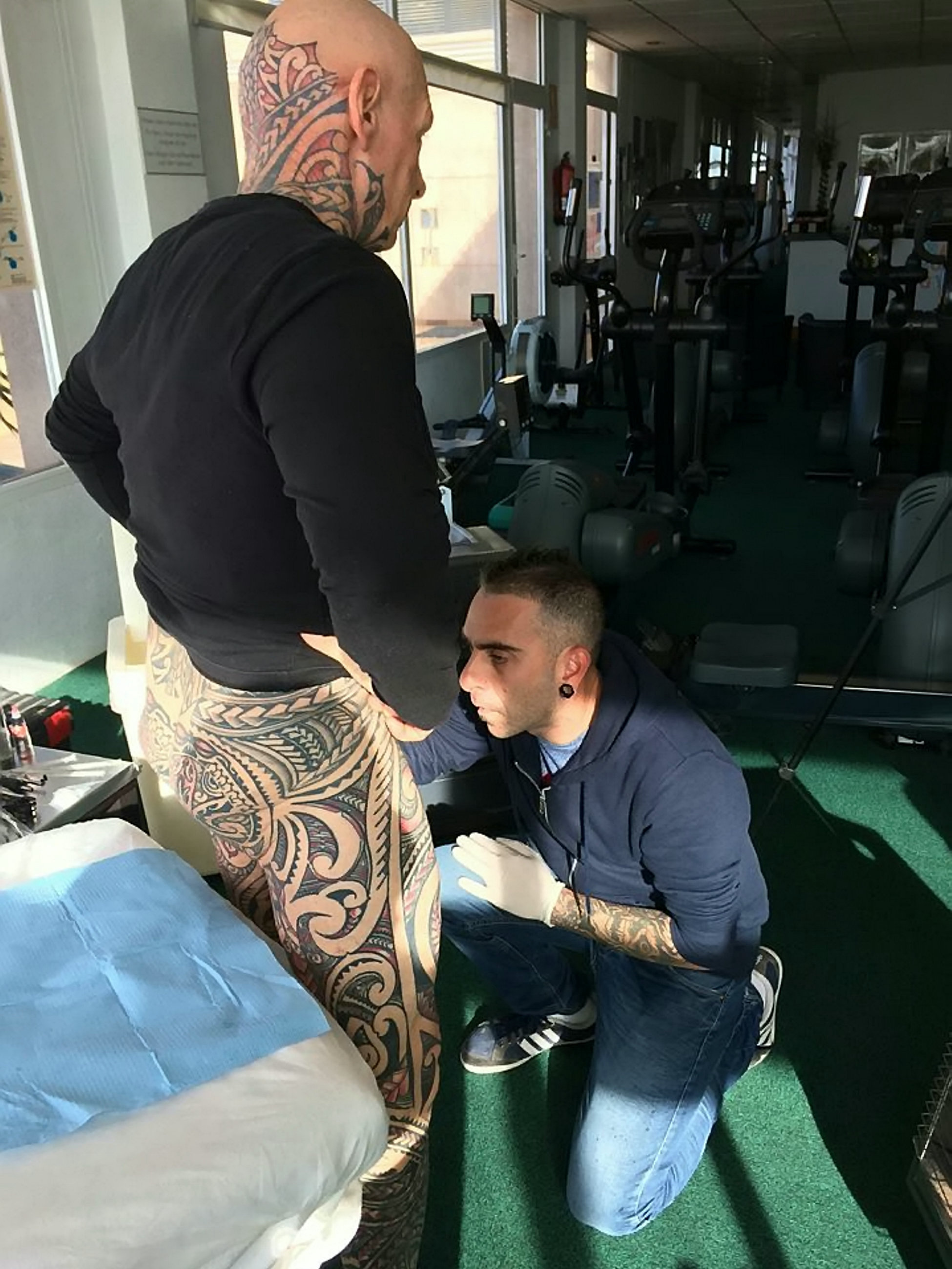 Man Spends £7.5K To Get Every Body Part Tattoo Including His Penis. Credit: SWNS
