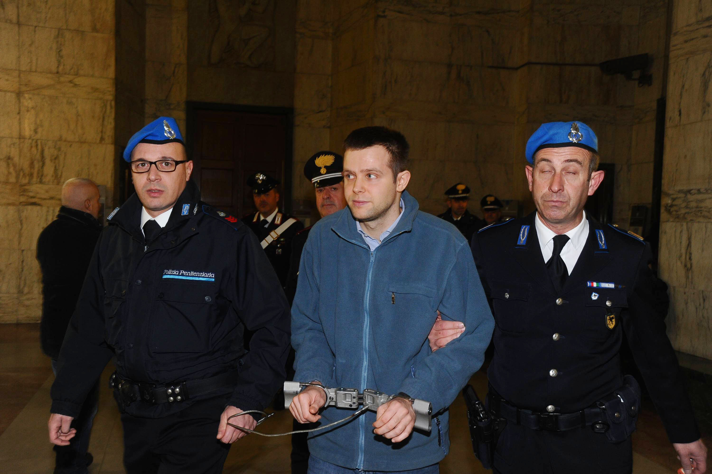 Herba arrives at court in Milan. Credit: PA