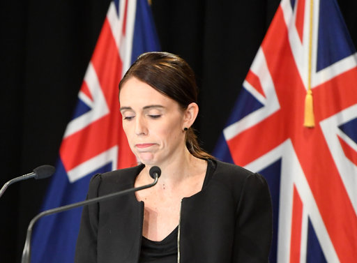 New Zealand Prime Minister Jacinda Ardern reacts during a briefing in Wellington, capital of New Zealand, on March 16, 2019. Credit: PA