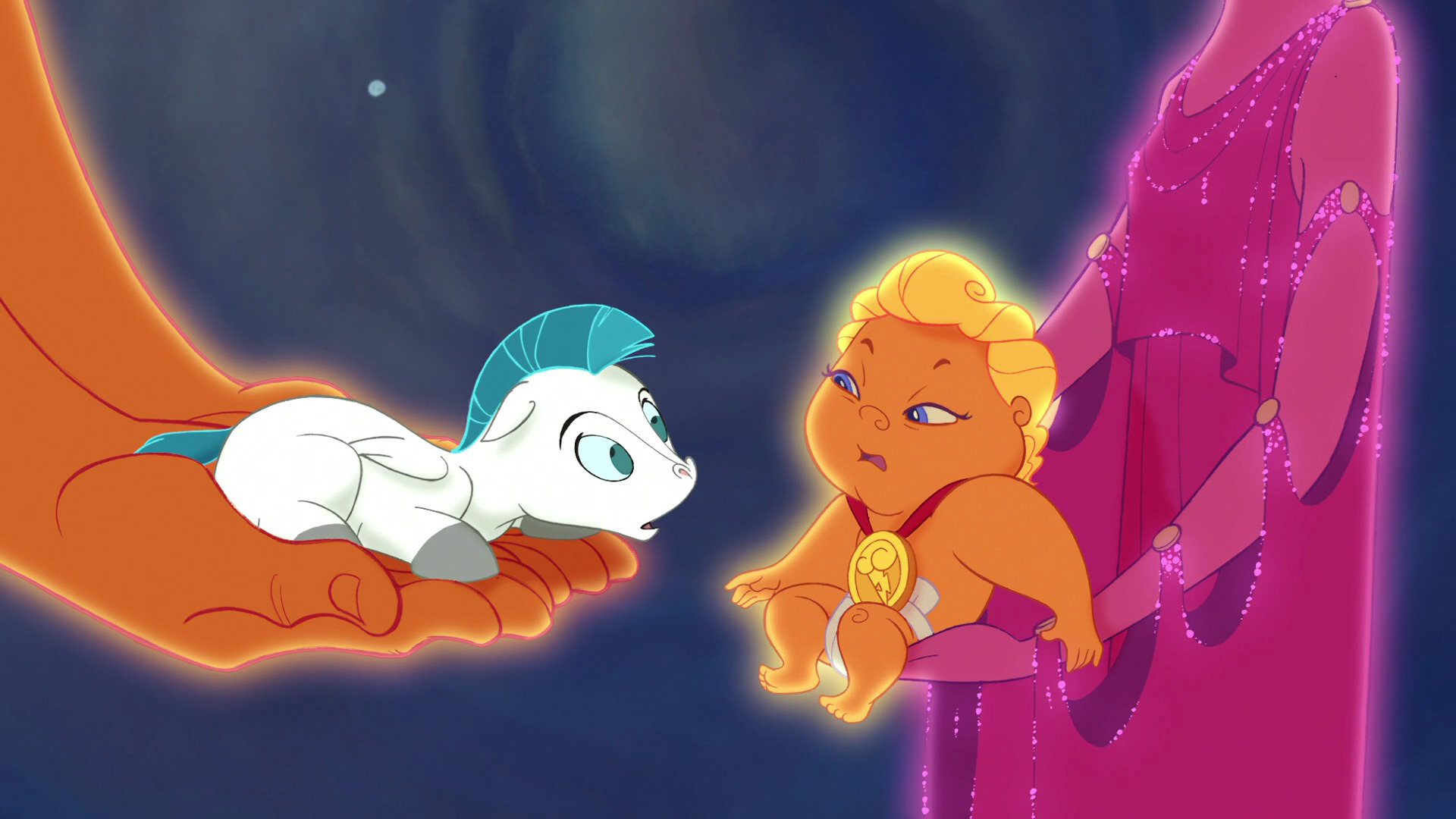The silhouette of baby Pegasus led to the unfortunate shape. (Credit: Walt Disney)