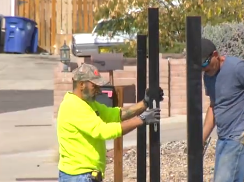 Breaking Bad house owners build fence after pizza stunts